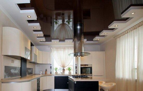 Какой потолок на кухню лучше выбрать. Обзор популярных вариантов