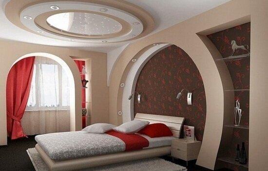 Комбинированные потолки. Виды, материал, цвета