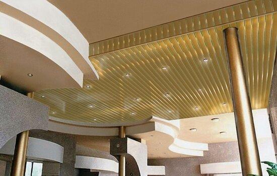 Подвесной реечный потолок. Типы и возможности конструкции