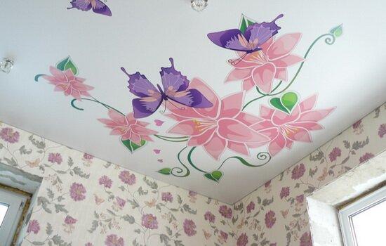 Последовательность создания рисунка на потолке из гипсокартона