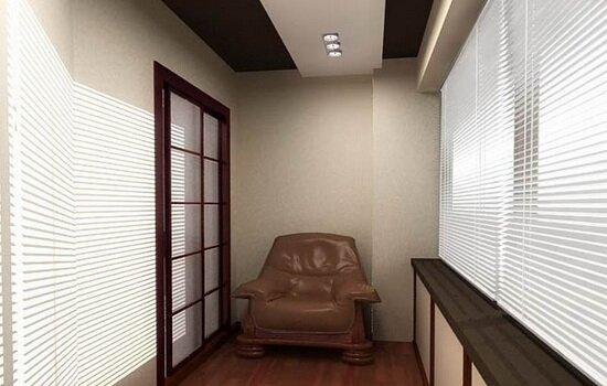 Варианты отделки потолка на балконе или лоджии